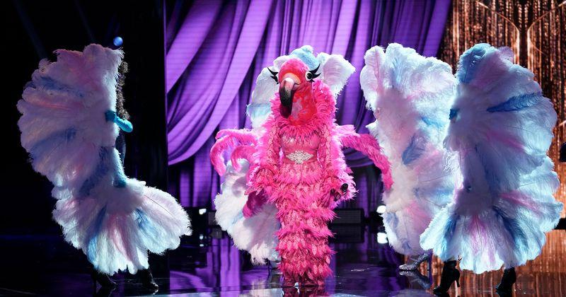 """""""Kaukių dainininkės"""" 2 sezonas: Ar Adrienne Bailon yra po """"Flamingo"""" kauke? Gerbėjų gerbėjai nurodo pokalbių laidų vedėją"""