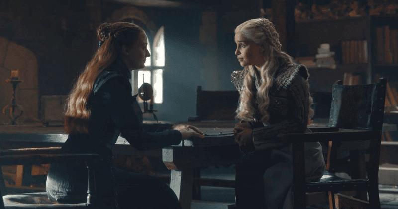 O cronograma da amizade de Sansa Stark e Daenerys Targaryen na 8ª temporada de 'Game of Thrones' pede outra sessão de sentar e conversar, por favor