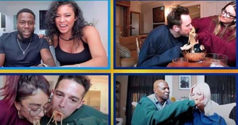 'Kuulsuste mängu nägu' 1. osa: Joel McHale röstib Kevin Harti, kuulsad paarid võtavad vastu spagetisöömise väljakutse