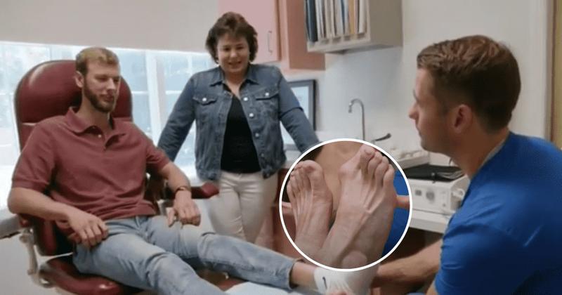 'Meus pés estão me matando: Steven tem uma condição rara em que seu pé esquerdo é quatro vezes menor que o direito