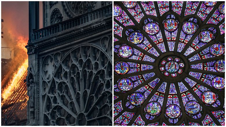 Notre Dame Rose Windows- ը. Դրանք ոչնչացվե՞լ են կրակի պատճառով: