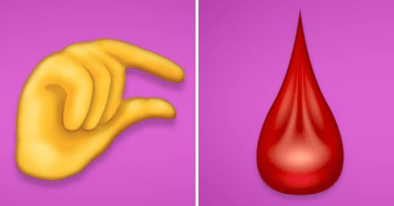 Emojis de 'pênis minúsculo' e 'sangue de período' definidos para chegar aos smartphones e a internet está enlouquecendo