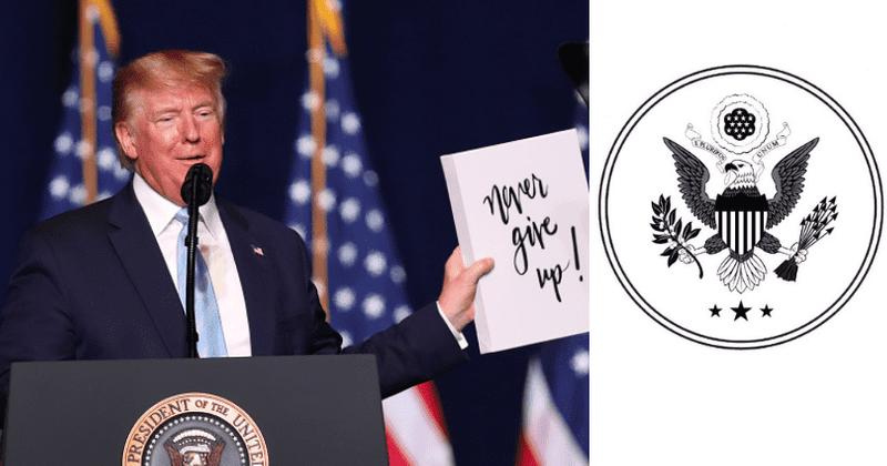 """Vai Donalds Tramps joprojām izmanto prezidenta zīmogu? Veidlapu veidlapa tika atzīmēta kā """"nelikumīga"""", bet šeit ir iemesls, kāpēc tas nav noziegums"""