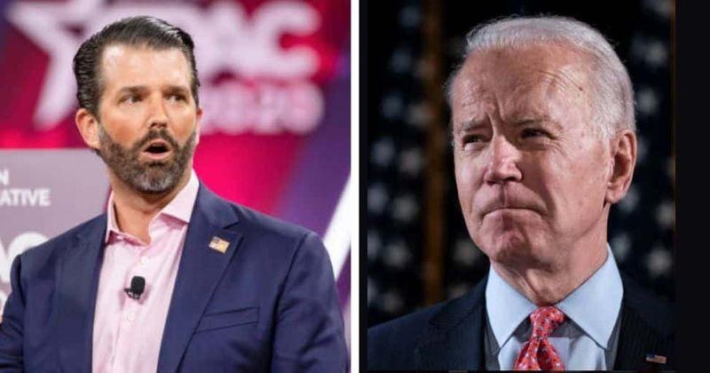 Donald Trump Jr alega que os aneurismas cerebrais e a cirurgia de Joe Biden o fazem 'esquecer onde ele está diariamente'