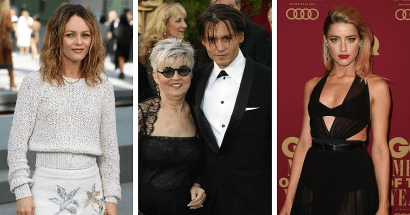 Czy Johnny Depp jest singlem z powodu matki? Betty Sue Palmer nie lubiła byłych Vanessy Paradis i Amber Heard