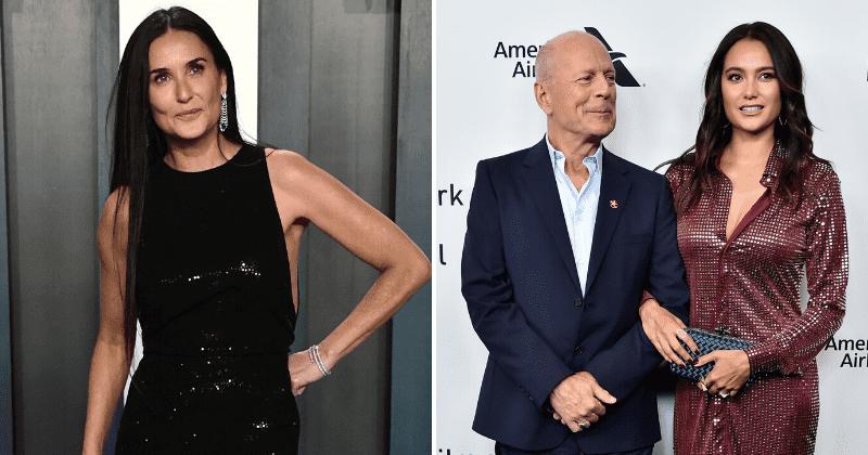 A esposa de Bruce Willis, Emma Heming, diz que 'sente falta dele' enquanto ele se auto-isola com a ex Demi Moore