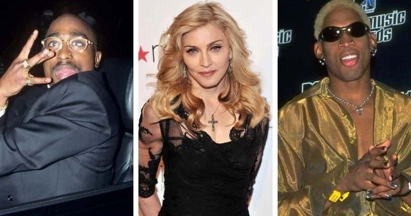 A vida amorosa selvagem de Madonna: perseguindo modelos para namorar Tupac e Dennis Rodman, os casos mais loucos da Rainha do Pop