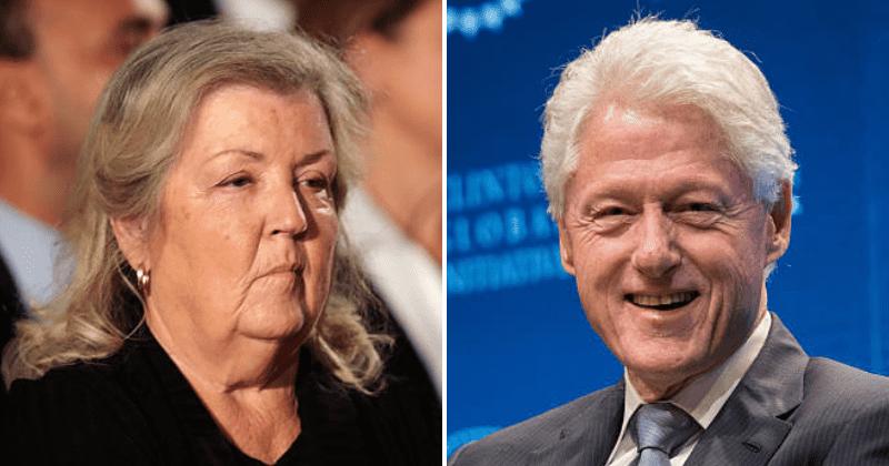 A acusadora de estupro de Bill Clinton, Juanita Broaddrick, o critica por apresentar uma palestra sobre o empoderamento das mulheres: 'Isso é uma piada de merda?'