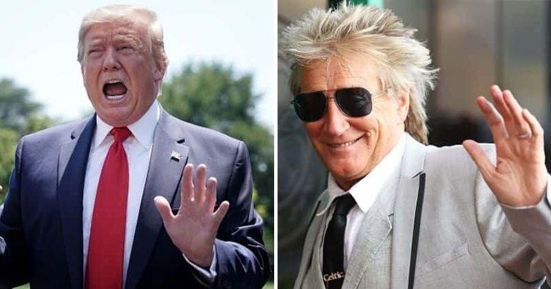 Trump chamado de 'Rod Stewart dos políticos', a Internet diz que a cantora de 'Maggie May' não merece analogia com o lixo