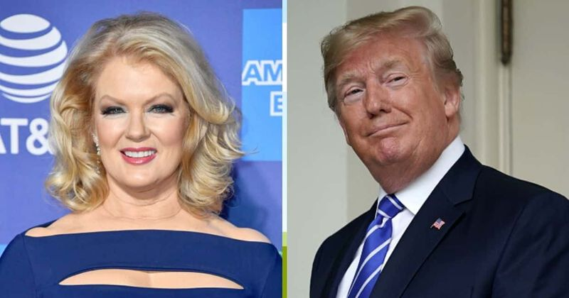 Internet je preklical Mary Hart in jo označil za 'izdajico', ker je gostila Trumpov četrti julijski dogodek Mount Rushmore