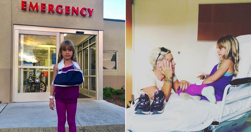 'Monkey bars from hell': a filha de 7 anos de Pink, Willow Sage, faz a 'primeira viagem de emergência'