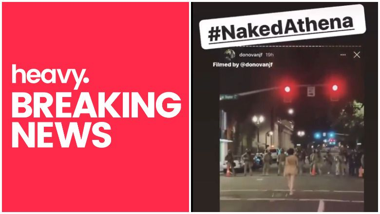 Гледајте: Гола Атхена из Портланда на квадрат против полиције