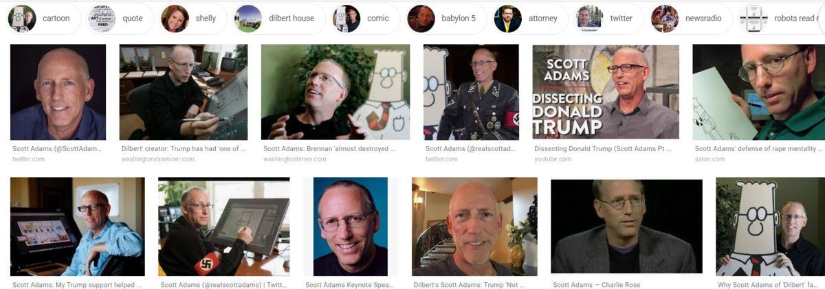 Dilbert Creator diz que o Google o está atacando por suas opiniões sobre Trump