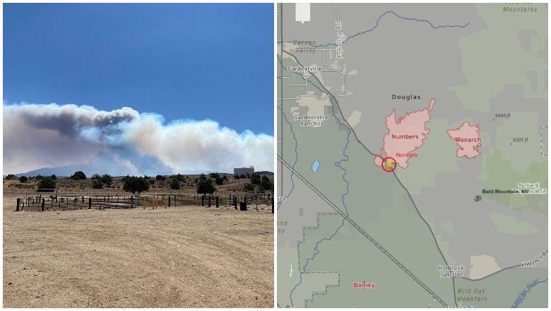 Požar številk v Nevadi naraste na 10.000 hektarjev: oglejte si Zemljevide in posodobitve evakuacije