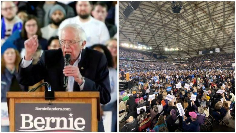 Rohkem kui 17 000 pakki Bernie Sandersi Tacoma, Washingtoni ralli [Rahvahulga fotod]