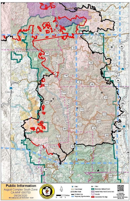 Կալիֆոռնիայի հրդեհային քարտեզ. Հետևեք հրդեհներին և տարհանումներին այսօր մոտս [սեպտեմբերի 28]