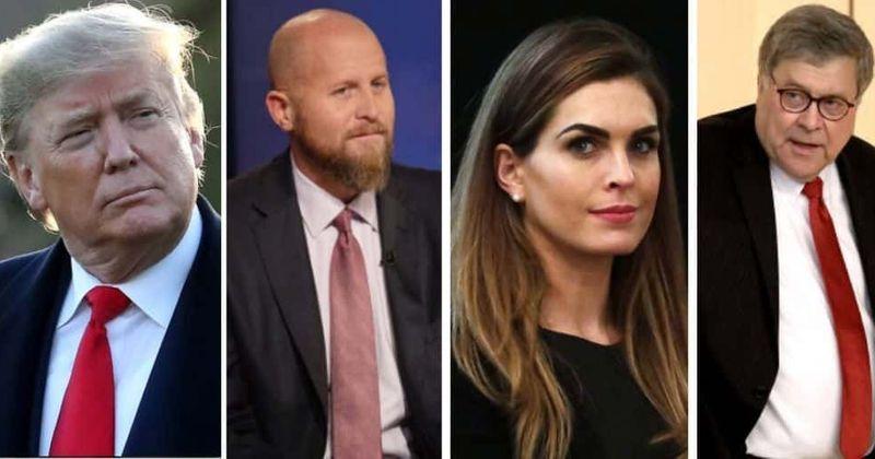 'Ciumento' Trump rebaixou Brad Parscale por namorar Hope Hicks, dizem rumores enquanto a Internet a convida para namorar AG Barr