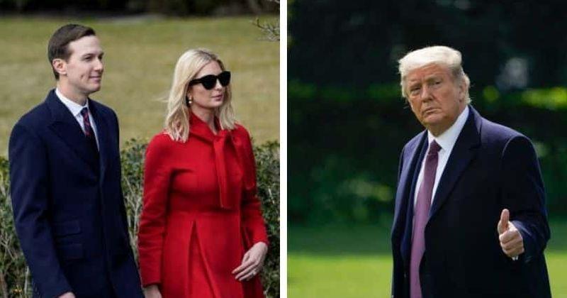 Ivanka Trump och Jared Kushner spelar golf separat från Donald Trump bland rykten om splittring mellan dem