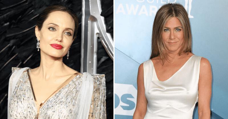 Jennifer Aniston uma vez chamou Angelina Jolie de 'não legal' antes de marcar a rivalidade por Brad Pitt de 'boba, mesquinha ** t'