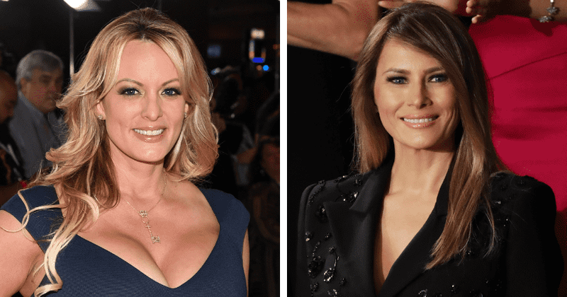 Melania Trump v tajnih kasetah Stormy Daniels imenuje 'porno kurbo' in je ljubosumna na naslovnico Voguea iz leta 2018