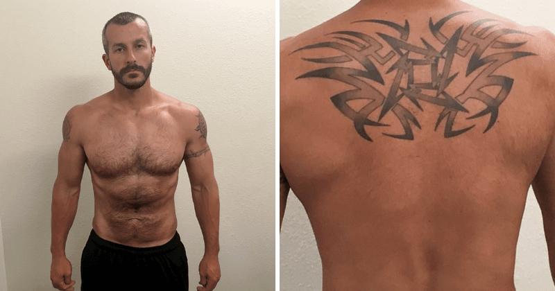 Krisa Votsa fotoattēli bez krekla pēc aresta atklāj, ka viņam mugurā bija vairāki tetovējumi, tostarp viens liels veltījums Metallica
