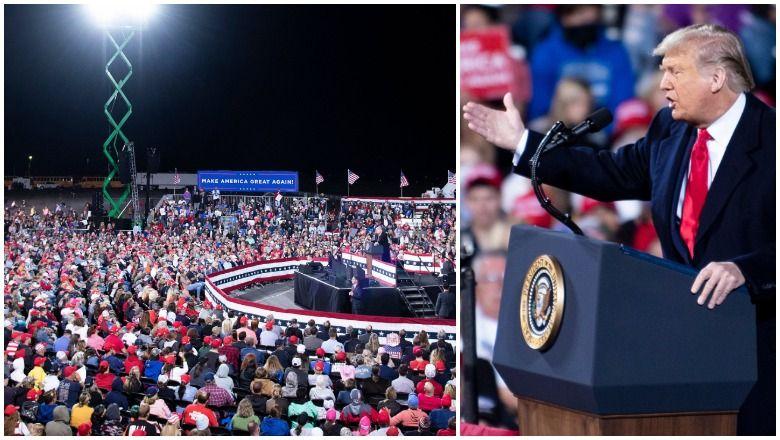 Quantos compareceram ao Rally de Trump em Fayetteville, Carolina do Norte? Ver fotos da multidão