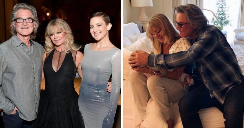 Kate Hudson compartilha uma foto comovente de Kurt Russell e Goldie Hawn acariciando a neta Rani, de 2 meses de idade