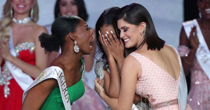 Miss World 2019: Miss Nigeeria reaktsioon Jamaica krooni võitnud Toni-Ann Singhile sulatab südame kogu Internetis