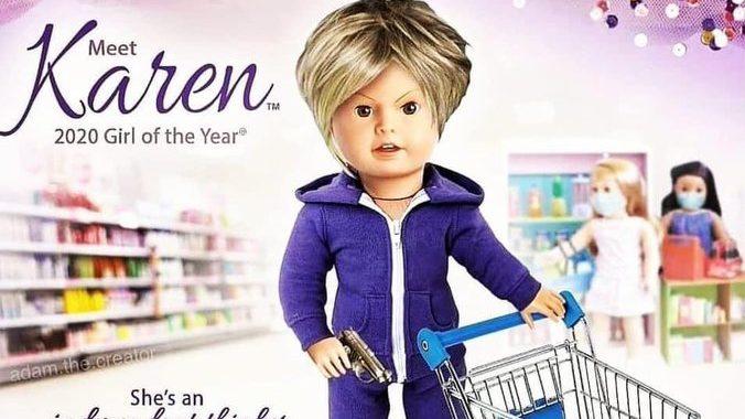 American Girl 'Disgusted' na 'Karen' Facebook Doll Parody