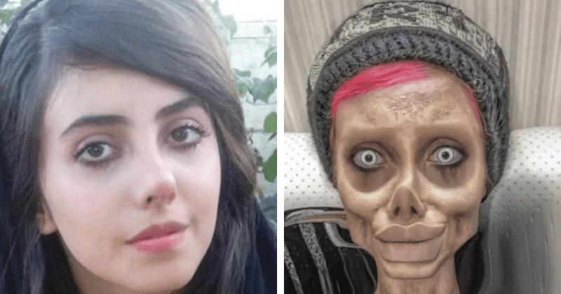 Sahar Tabar: Angelina Jolie, sósia de 'zumbi', revela rosto real na TV após ser libertada da prisão iraniana