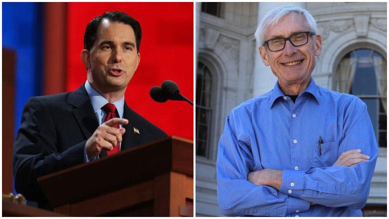Anketa utrke guvernera Wisconsina: Walker, Evers Tied