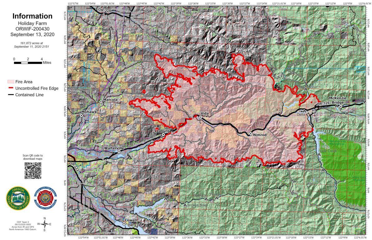Požarni zemljevid Oregona: Sledite požarom in evakuacijam v moji bližini danes [14. september]